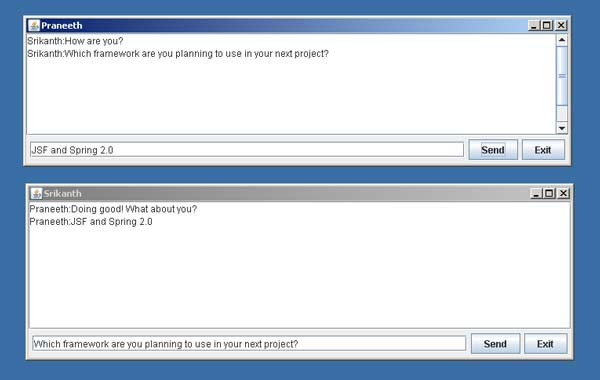 Chat Server and Chat Client In Java