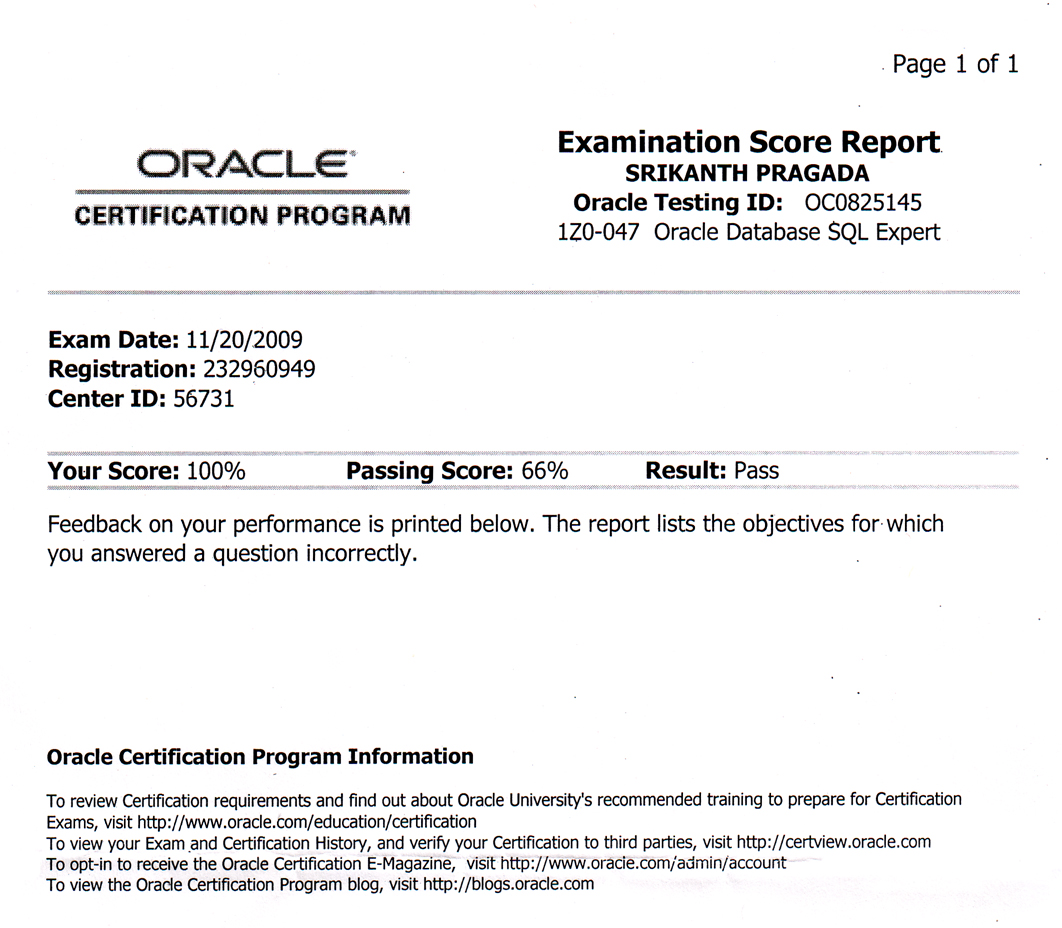 I am now oracle database sql expert for oracle database 11g post your comment xflitez Gallery